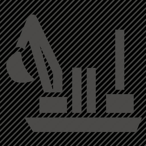 backhoe, dredgers, industrial, marine, ship icon
