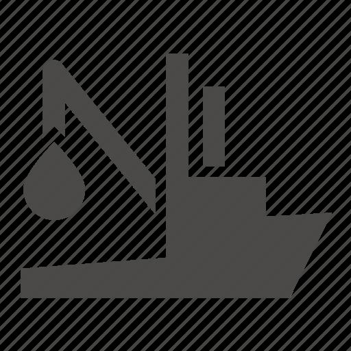 boat, fishing, industrial, marine, seiner, ship icon