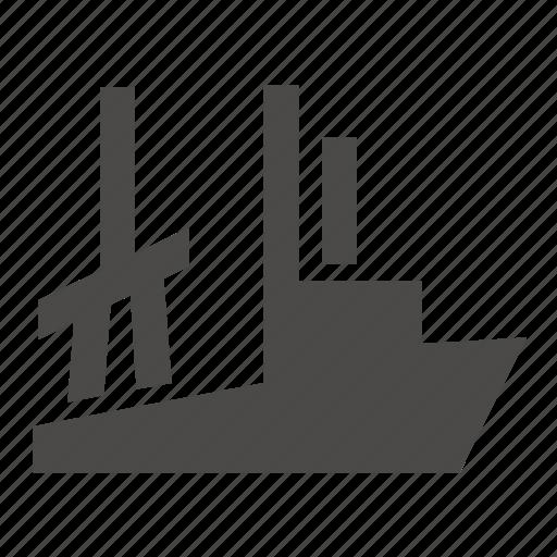 boat, fishing, industrial, marine, ship, trawler icon