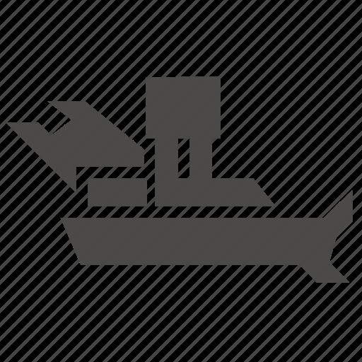 boat, collector, garbage, industrial, marine, ship icon