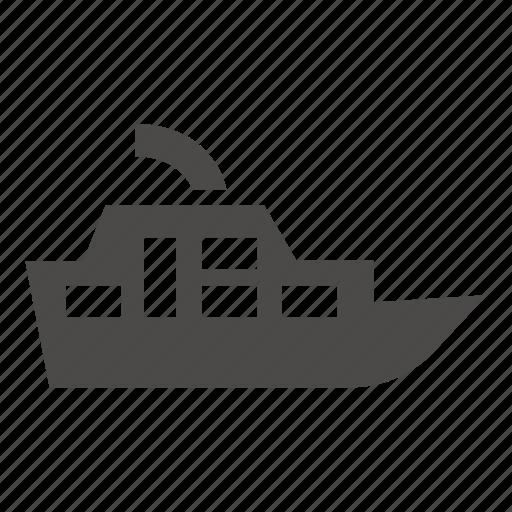 boat, marine, passenger, pleasure, ship, transport icon