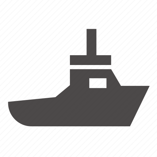 boat, industrial, marine, ship, tow, transport icon
