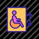 disability, disabled, elevator, handicapped, hospital, lift