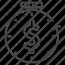 compound interest, financial, income, money, passive, time icon