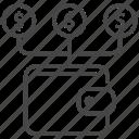 cash flow, financial, income, money, passive, revenue, wallet icon
