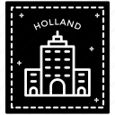 holland stamp, label, passport stamp, stamp, travel logo, visa stamp icon