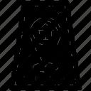 albania stamp, albania sticker, passport label, postage stamp, verification stamp icon