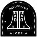 algeria logo, algeria stamp, passport stamp, seal stamp, visa stamp icon