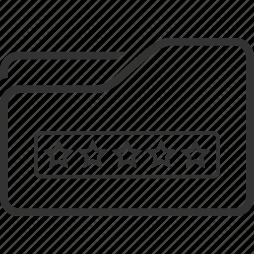 folder, lock, password, security icon