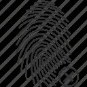 biometric, finger, fingerprint, id, rejected, scan, security