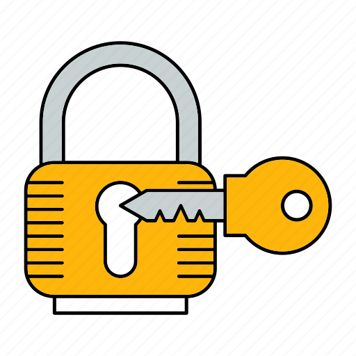 key, lock, padlock, protect, protection, security icon