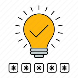 bulb, idea, lamp, protect, protection, security icon