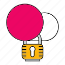 cloud, data, padlock, protect, protection, security icon
