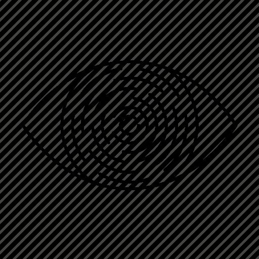 eye, password, print, protection, security icon