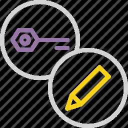 authentication, edit, key, modify, password, secure, update icon