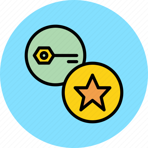 authentication, bookmark, important, key, password, secure, strength icon