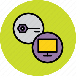 authentication, computer, device, key, password, protection, secure icon