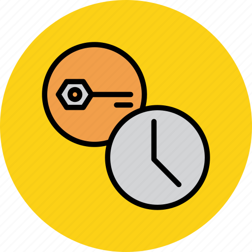 authentication, expire, key, password, schedule, secure, timer icon