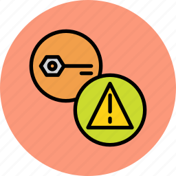 authentication, error, fault, key, password, secure, wrong icon
