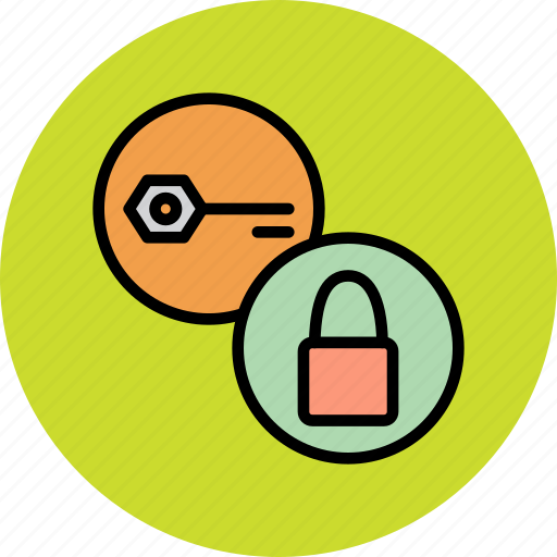 authentication, encryption, key, lock, password, protection, secure icon