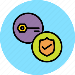 authentication, key, password, protection, secure, security, verification icon