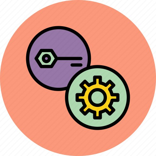 authentication, key, options, password, preferences, secure, settings icon