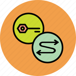authentication, connect, key, password, process, secure, sync icon