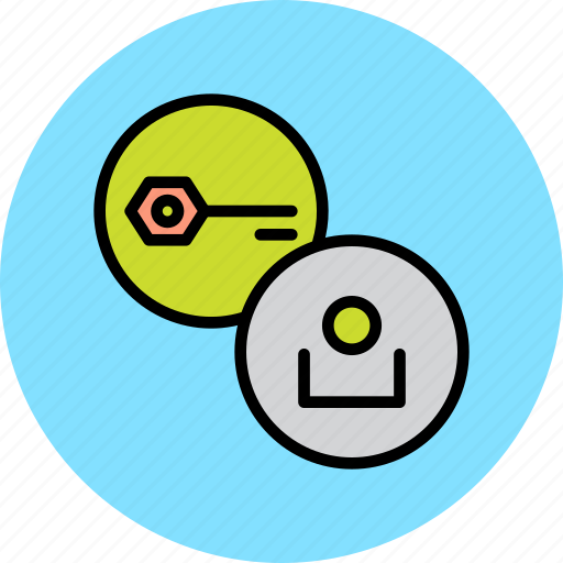account, authentication, key, password, protection, secure, user icon