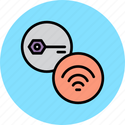 authentication, internet, key, password, protection, secure, wifi icon