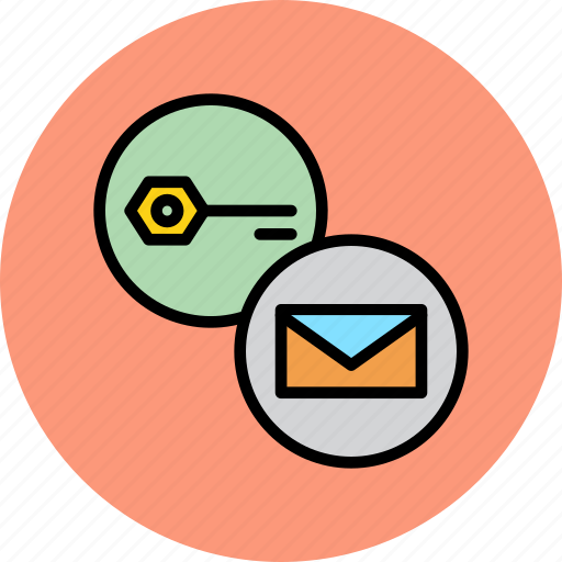 email, encryption, key, mail, password, protection, secure icon