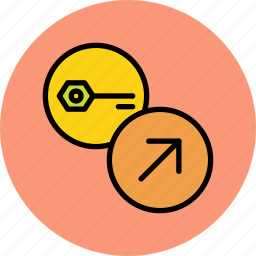 export, key, password, private, public, secure, send icon