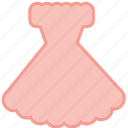 beauty, clothes, clothing, dress, fashion, pastel dress icon