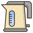 electric, hot, kettle, kitchen, water icon