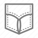 patch, pocket, shirt icon