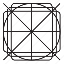 cross, grid, pattern, x mark icon