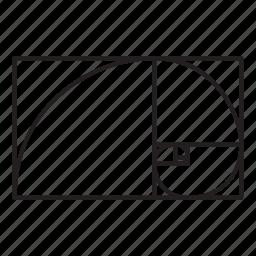 golden, grid, pattern, ratio icon