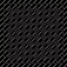 board, grid, pattern, point, round icon
