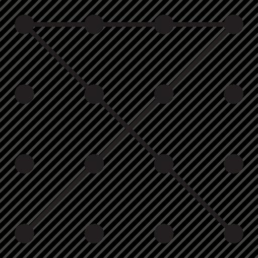 grid, line, pattern, point icon