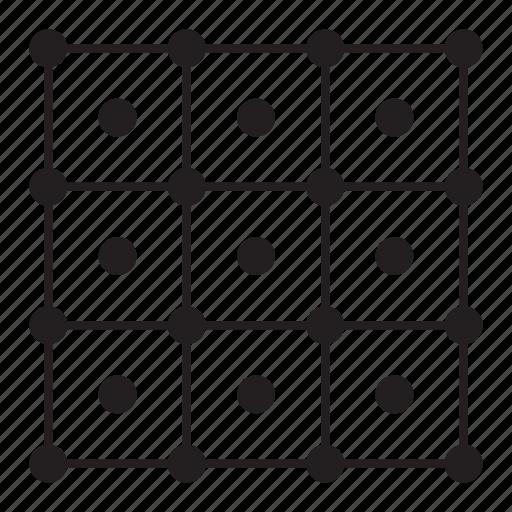 grid, line, pattern, point, round icon