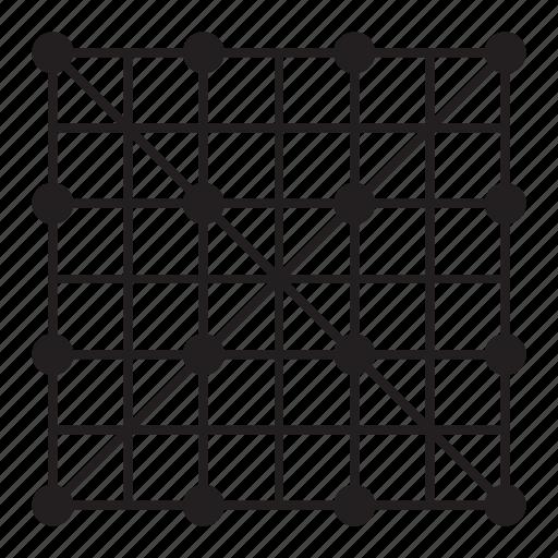 cross, grid, line, pattern, x mark icon