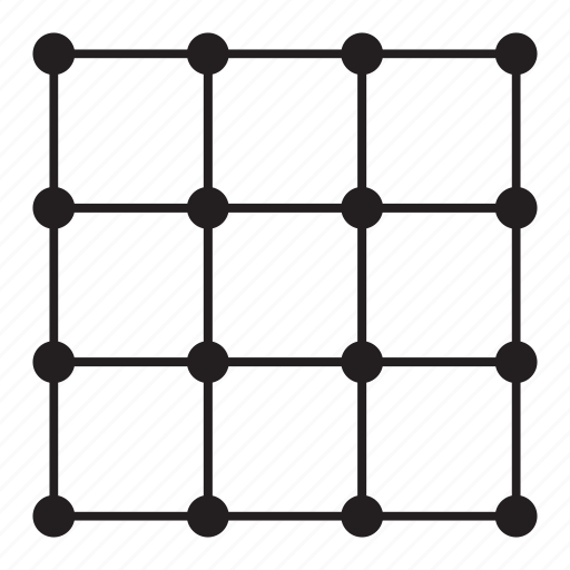 grid, line, pattern, point, square icon