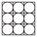 arab, grid, line, pattern, round icon