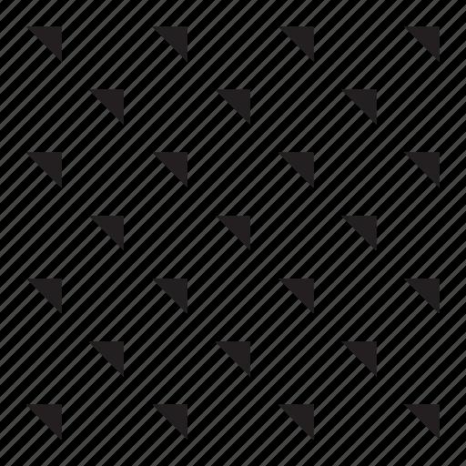 grid, pattern, rain, triangle icon