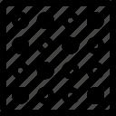circles, pattern, textile, tile icon
