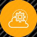 cloud, data, setting, sky icon