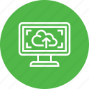 cloud, computer, upload icon