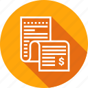 analytics, bill, document, report icon