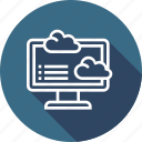 analytics, cloud, computer, data icon