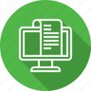 billing, computer, document, report icon