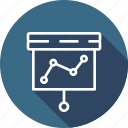 analytics, chart, data, presentation icon